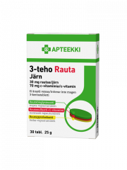 APTEEKKI 3-teho Rauta 30 mg rauta + 70 mg C-vitamiini 30 tabl